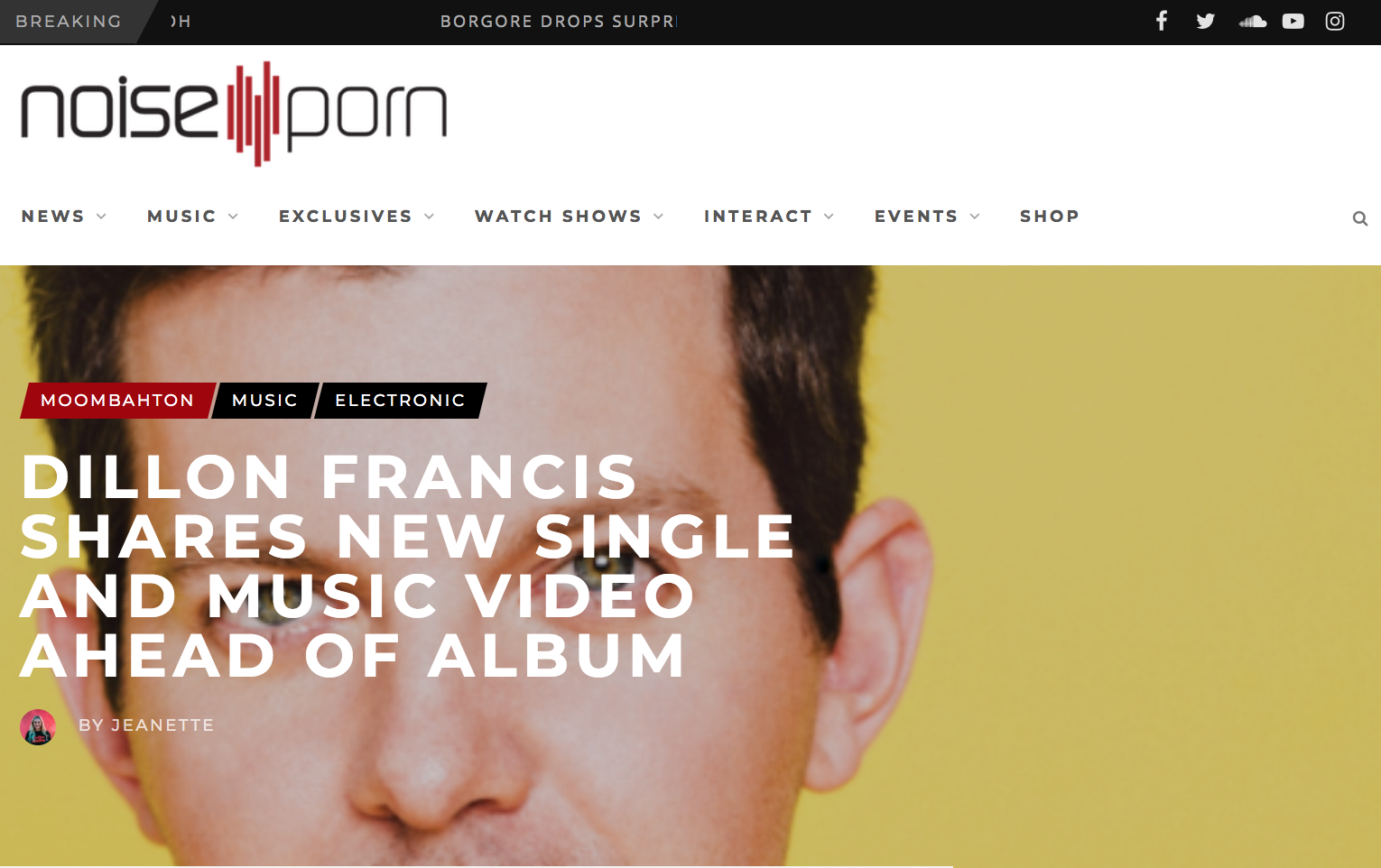 DILLON FRANCIS SHARES NEW SINGLE AND MUSIC VIDEO AHEAD OF ALBUM